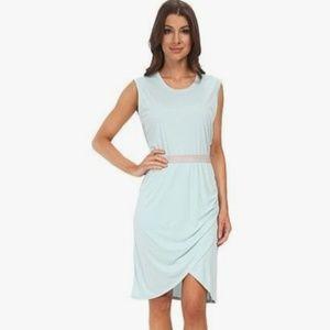 BCBG MAXAZRIA Mikela Aqua Blue Modal Dress XXS
